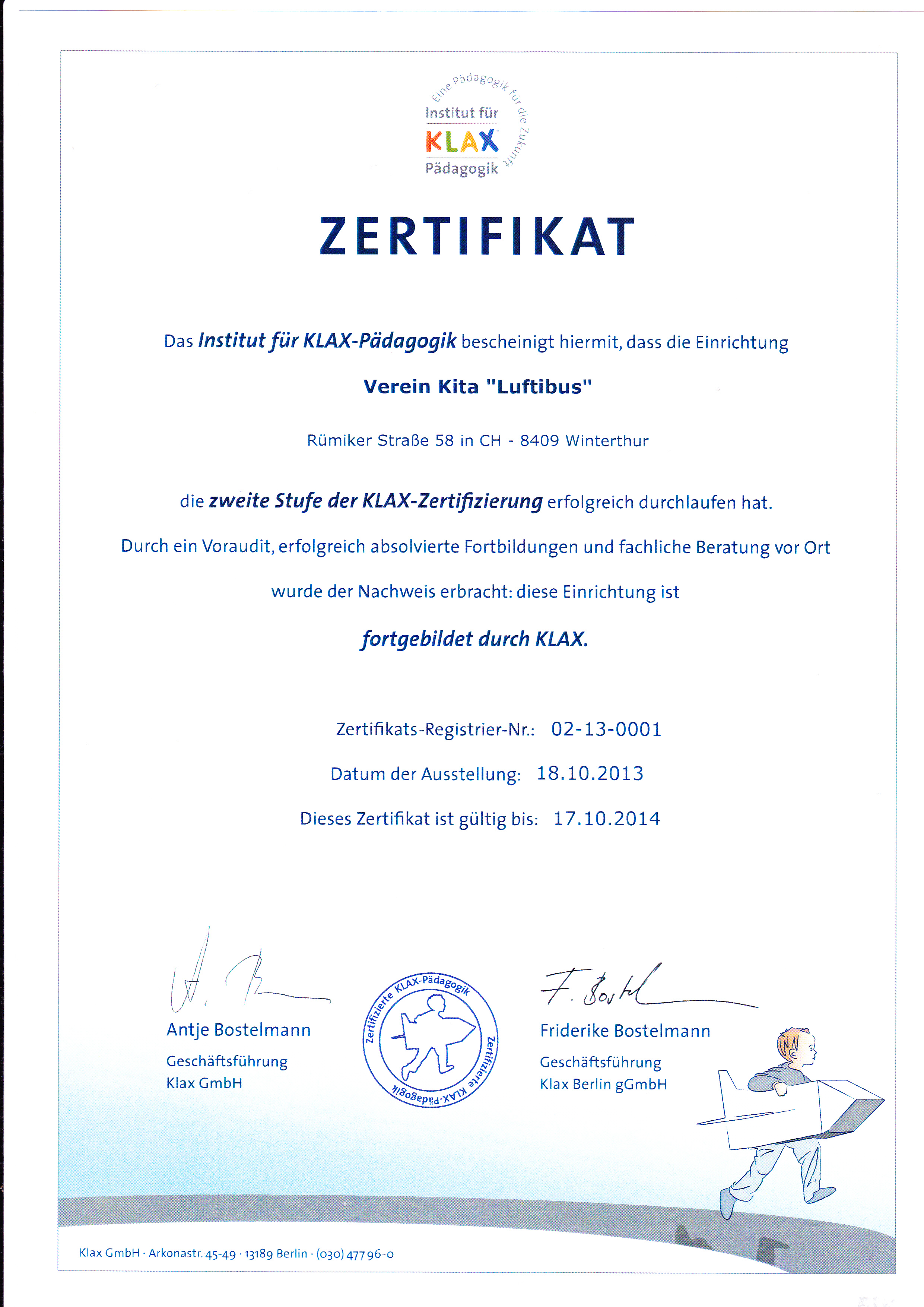 KLAX-Zertifizierung